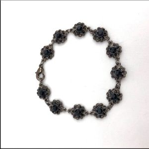 Jewelry - Black crystal beaded bracelet. 7 1/2 inche…